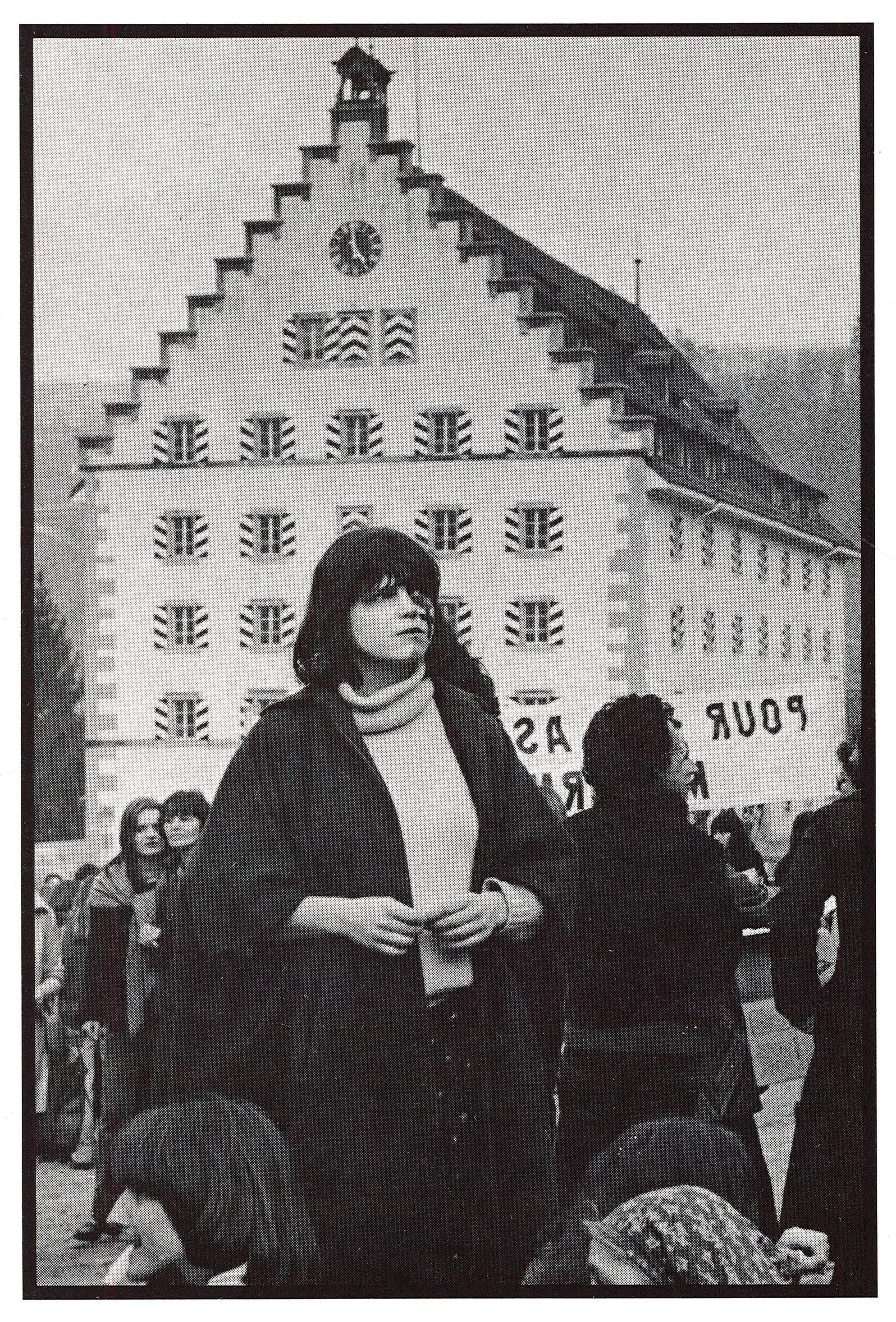 Aus dem Buch Frauen gehen auf die Strasse / Femmes descendent dans la rue, ©Lindwurm-Verlag Fribourg, 1978